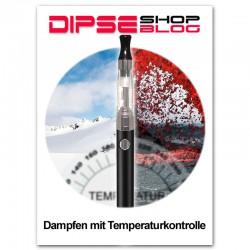 e-Zigarette - Temperaturkontrolle beim Dampfen
