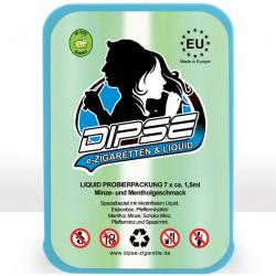 Probierset mit 7 Liquids mit Minze- und Mentholaroma von DIPSE Zigarette