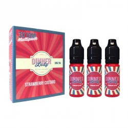 Dinner Lady Strawberry Custard Liquid - 3er Box Nikotinfrei