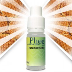 Phog e-Liquid Karamellwaffel in drei Variationen. Nikotinfrei, Low und Medium.