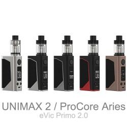 Joyetech eVic Primo 2.0 Kit mit UNIMAX 2 oder ProCore Aries erhältlich.