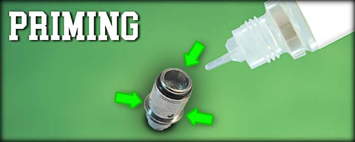 Priming - Bereiten Sie Ihren Coil mit Liquid vor.