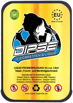 DIPSE ego-T ProSet inklusive 10er Pack Probierliquids