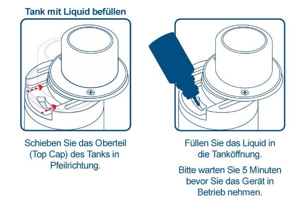 Innokin Proton Plex Kit mit Liquid befüllen.