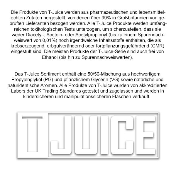 T-Juice Liquid Produktinformationen