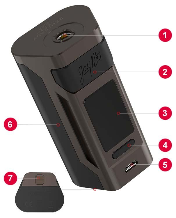 Wismec Reuleaux RX2 20700 Box MOD - Elemente