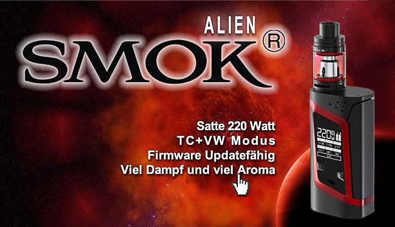 Die beliebte SMOK Alien Mod ist in verschiedenen Farben bei uns erhältlich.