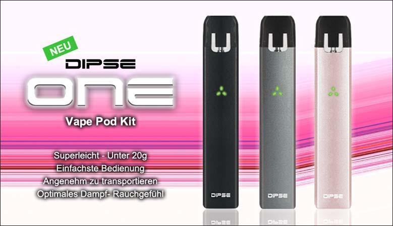 Das DIPSE ONE Vape Pod Kit ist ein ultraleichtes, handliches Gerät, das durch Bedienungsfreundlichkeit und ein optimales Dampferlebnis überzeugt.