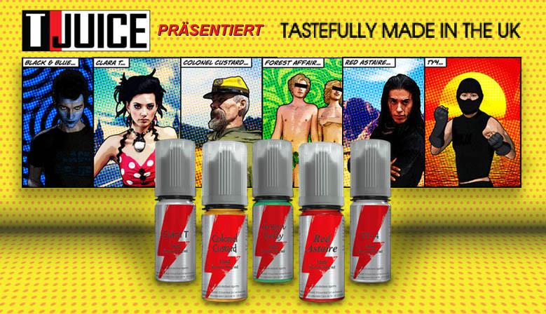 T-Juice bietet Produkte für Dampfer, die von Dampfern etwickelt wurden. Beste Qualität und innovative Ideen..