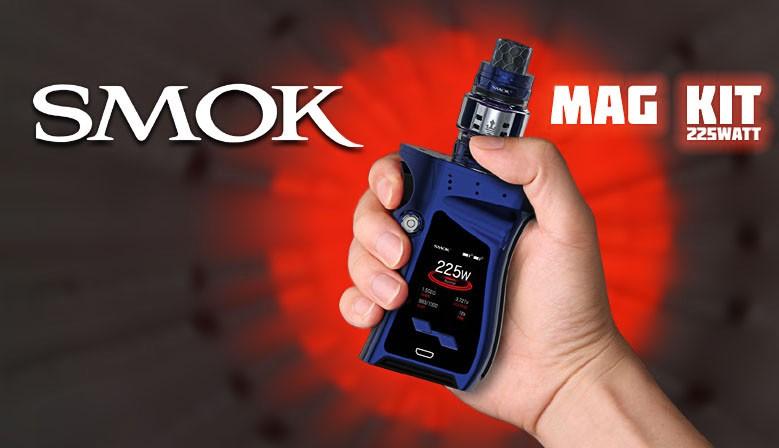 Das MAG KIT von SMOK mit 225 Watt ist ein leistungstarkes Gerät im ergonomischen Design.